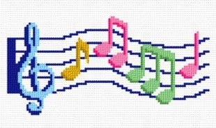 cross stitch pattern Music Staff