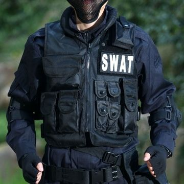 28.57$  Buy here - http://ainwq.worlditems.win/all/product.php?id=32426032865 - SWAT Airsoft Tactical Hunting Combat Vest Police Vest With Patch Black