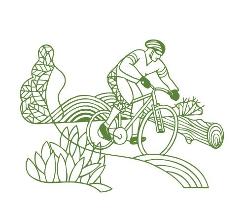 Biking #illustration by Thom Selvarud. Represented by i2i Art Inc. #i2iart