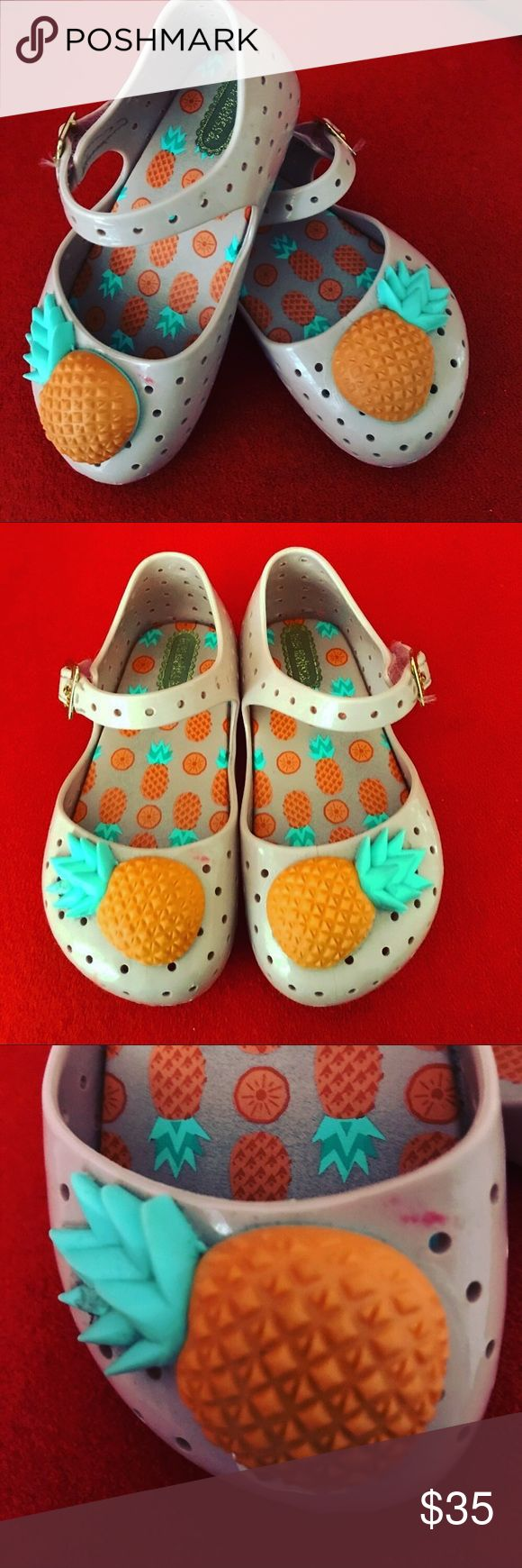 Mini Melissa pineapple 🍍 shoes Smoke and animal free home Mini Melissa Shoes