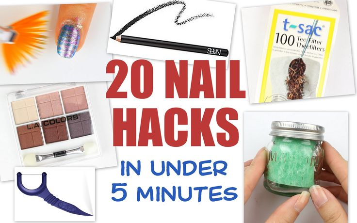 20 NAIL HACKS lickety split! Here is a quick and dirty run down of nail polish hacks to get your nail game sorted. I've scoured the interwebs on Pinterest, B...