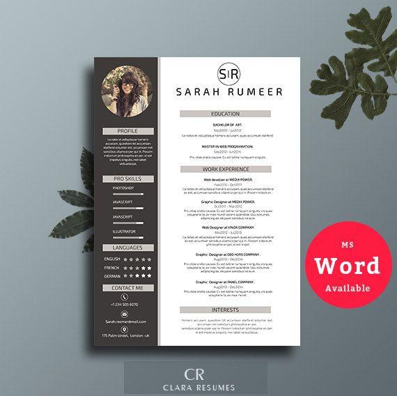 48 best CV images on Pinterest Cover letter template - free teacher resume templates