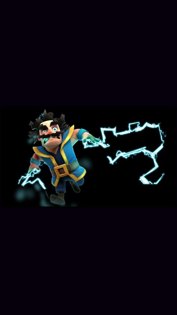 electro wizard wallpaper, clash royale
