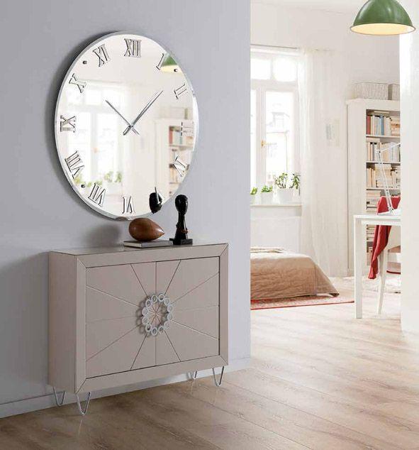 Espejos decorativos redondos con reloj Murano