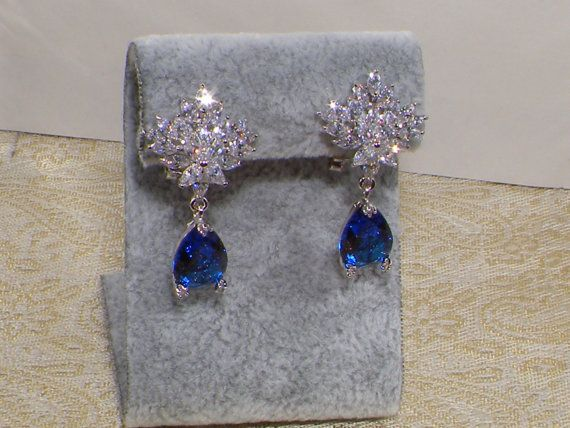 Wedding Jewelry Bridesmaid JewellerySapphire by JewellryPot