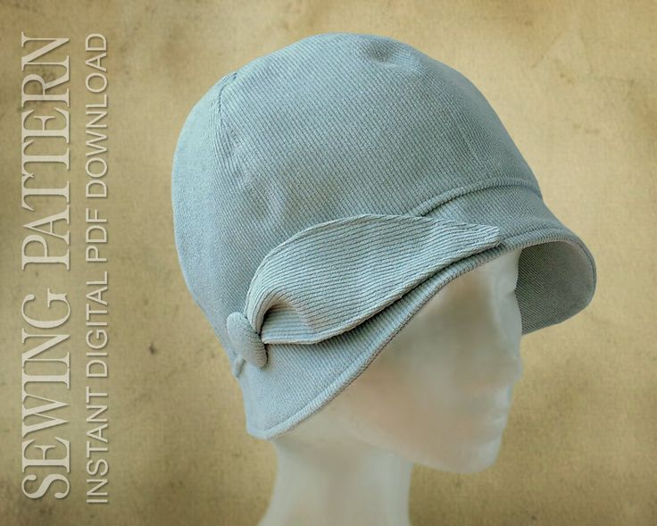 ThisPDF sewing pattern from Elsewhen Millinery is for alovelyvintage-style cloche hat to fit adults and children. The PDF file is available as an instant
