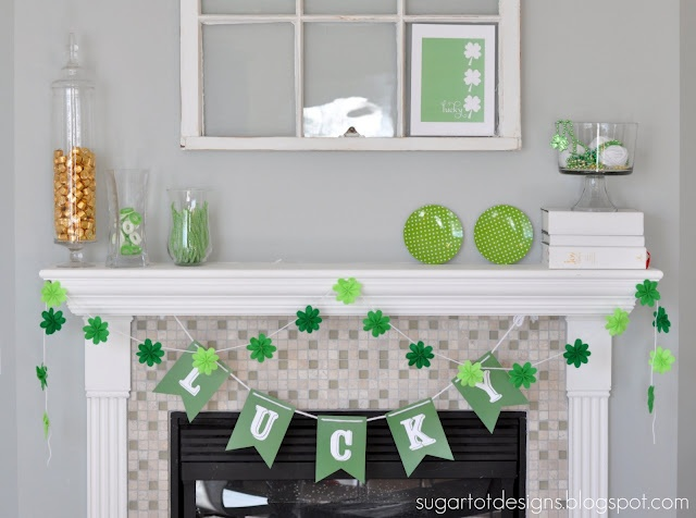 Printable lucky bannerHoliday Ideas, Crafts Ideas, Freebies Tabs, St Patricks Day, Banners Free, Lucky Banners, Feelings Free, Banners Hung, Free Printables