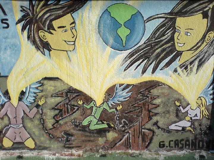 Graffiti art in #Valparaiso, #Chile