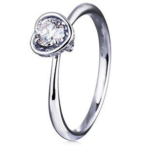 Помолвочное кольцо Сердце с бриллиантом