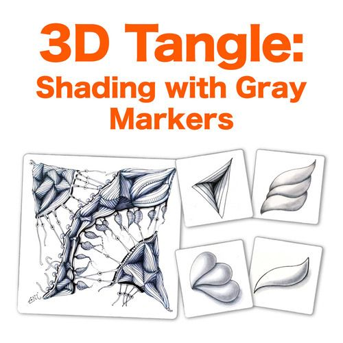 7 best 3dtangle overlapping zentangle images on pinterest doodles 3dtangle shading with gray markers fandeluxe Image collections
