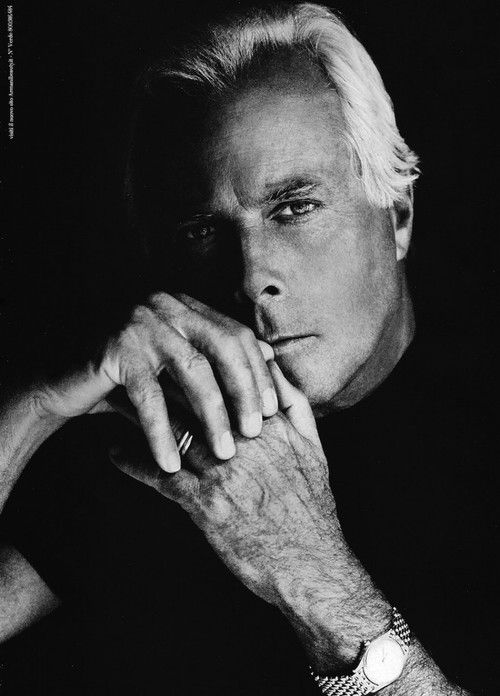 Giorgio Armani. Fashion Icon. That is all.  fashion   fashion designers   fashion icons   black and white   celebrity fashion
