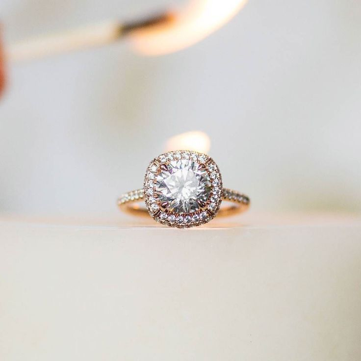 This 14K Rose Gold Cushion Outline Falling Edge engagement ring is smoking hot!   style: 17485R14 Click #linkinbio to view this style in 360! . . . . #JamesAllenRings #halo #diamonds #pave #stunning #wedding #weddingphotography #weddingdress #bridesmaids #bride #groom #weddinginspo #weddingstyle #weddingfun #weddingday #congratulations #weddingbliss #lights #marryingmybestfriend #fire #gettingmarried #foreverandalways #alwaysandforever #cushioncut #candle #bright #glisten