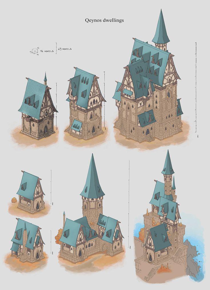 ArtStation - Everquest Next/Landmark Workshops concept Art- Architectural styles, Benoit Bernard