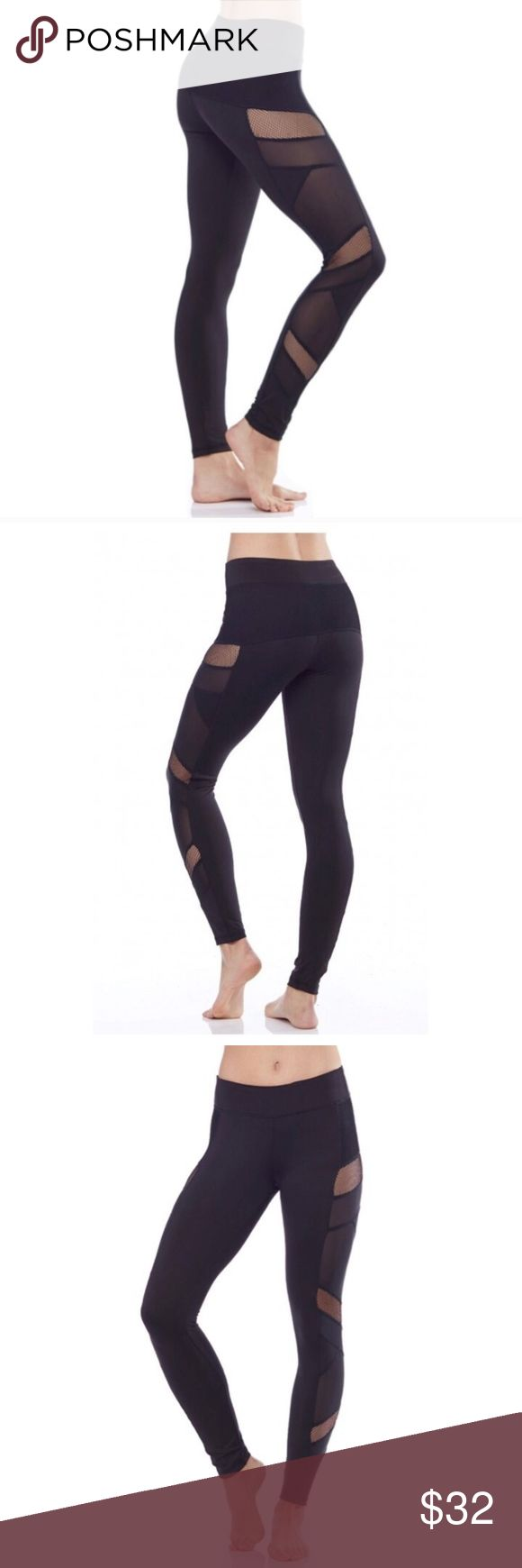 """LAST PAIR Electric Yoga Sexy Mesh Yoga Pants Look hot and stay cool while you sweat with the Sexy Mesh Panel Legging from Electric Yoga. Made of a smooth, stretchy fabric, with mesh paneling running down the side of each leg, these leggings offer comfort and breathability throughout your yoga session.   2.5"""" waistband. Hidden waistband pocket.  Fabric: 80% Polyester, 14% Spandex, 6% Nylon. Care: Hand wash cold. Lay flat or hang to dry. Do not bleach. Do not iron. Do not dry clean.   Large…"""