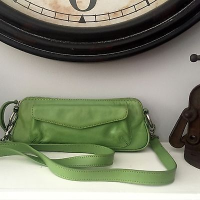 Latico-Green-Leather-Cross-Body-Purse-Small-Paisley-Pink-Lining