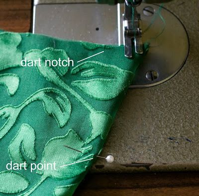 French seam a dart, genius! great for lace or sheer fabrics