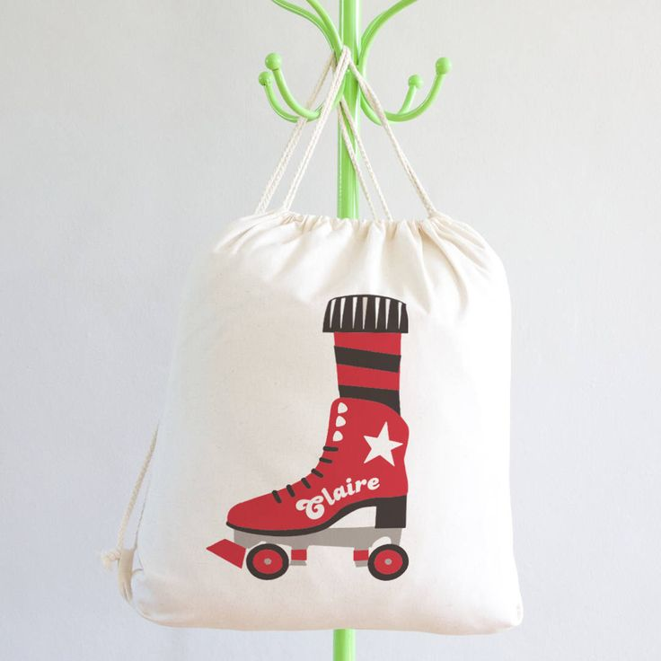 Personalised Kit Bag - roller skates - roller derby gifts - sports gifts - skater gifts - school bag - gym bag - pe bag - sports team bag by claireclose on Etsy https://www.etsy.com/listing/540619215/personalised-kit-bag-roller-skates