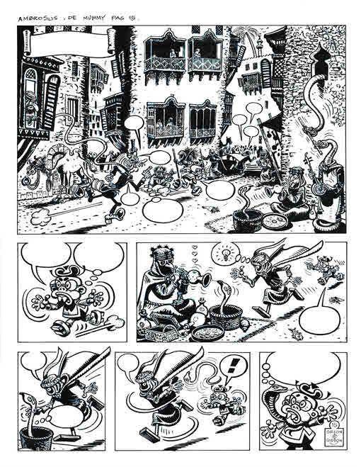 Brugman, Gideon - Originele pagina (p.15) - Ambrosius - De Mummie - (2004) - W.B.