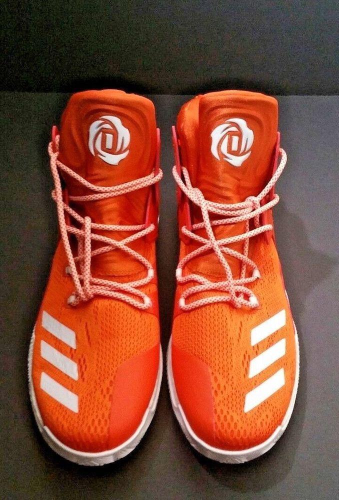 ae6d8784aad2 Adidas D Rose 7 Boost Primeknit Performance Basketball Shoe Orange White  Size 16  adidas  BasketballShoes