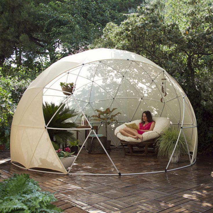 jardin d'hiver, auvent d'été, serre géodésique Garden Igloo (modèle 2015) - LAPADD - objets de lutte contre les contraintes du quotidien