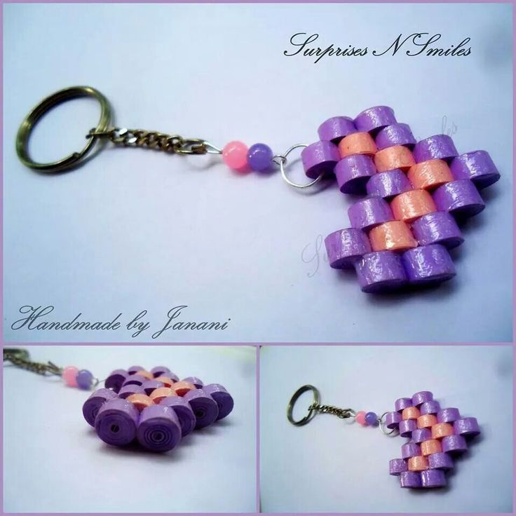 how to make keychains with quilling paper