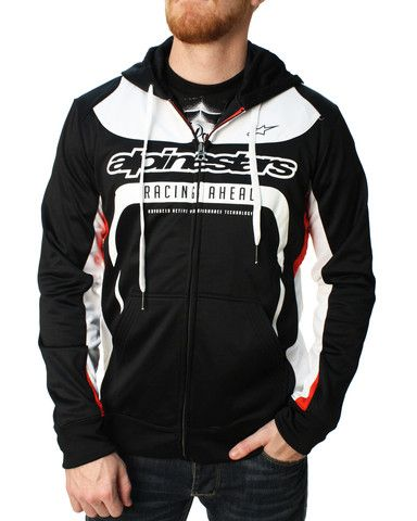 Alpinestars Motorcycle Jacket >> Alpinestars Men's Session Fleece Full Zip Hoodie | Riding ...