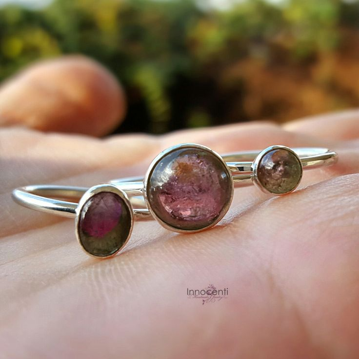 Choose your watermelon tourmaline gemstone and have a ring made to order,only for you!