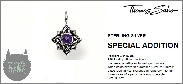 Thomas Sabo Fall 2012 - Special Additions - Marcasite Flower Pendant - Amethyst
