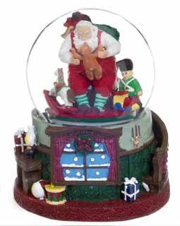Santa's Workshop Musical Snow Globe, Large - http://www.christmasshack.com/snow-globes/santas-workshop-musical-snow-globe-large/