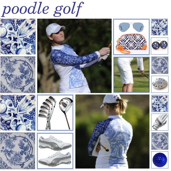 Poodle Golf's 'Chill' shirt styled on Polyvore