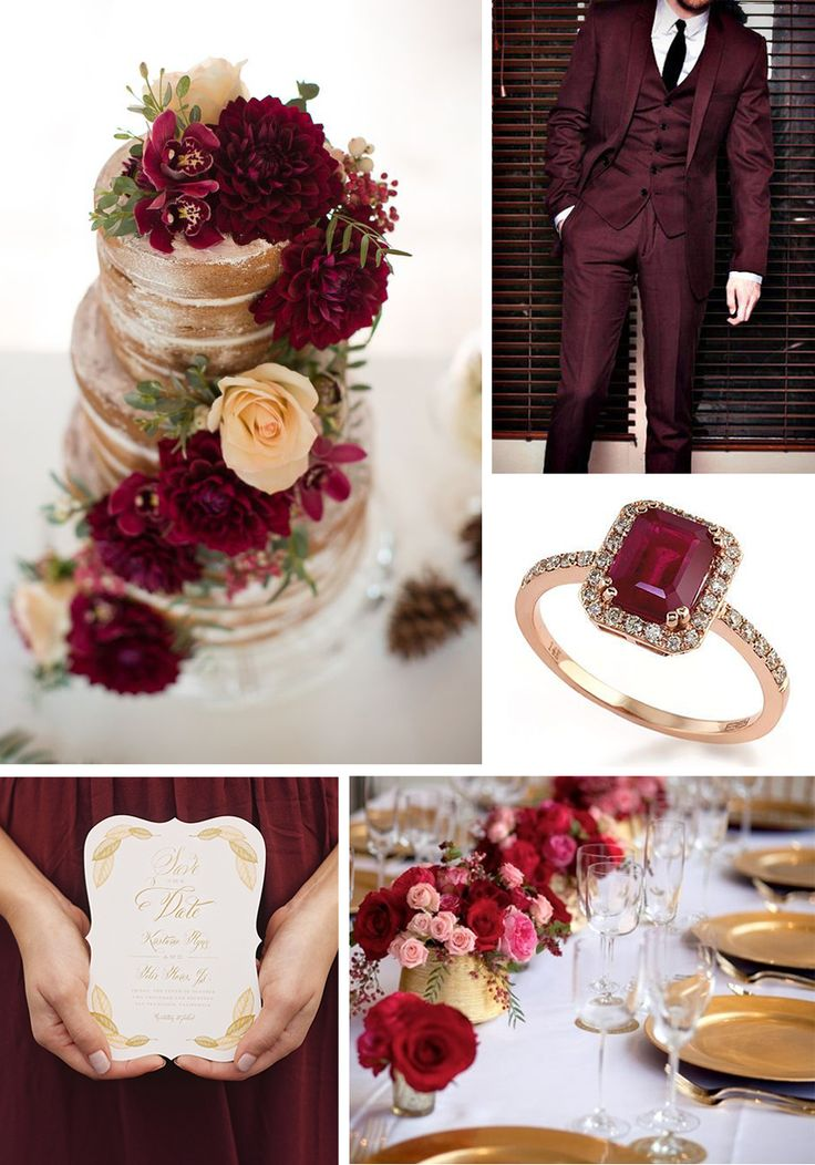 Strictly Weddings shares the Pantone color of the year, Marsala. Inspiration for your wedding with our favorite Marsala items.