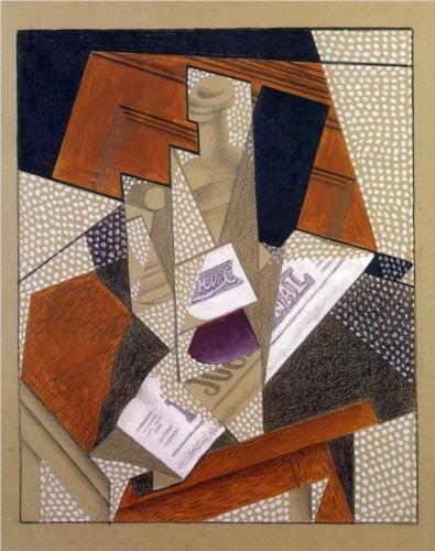 Juan Gris (1887 - 1927) | Synthetic Cubism | Bottle
