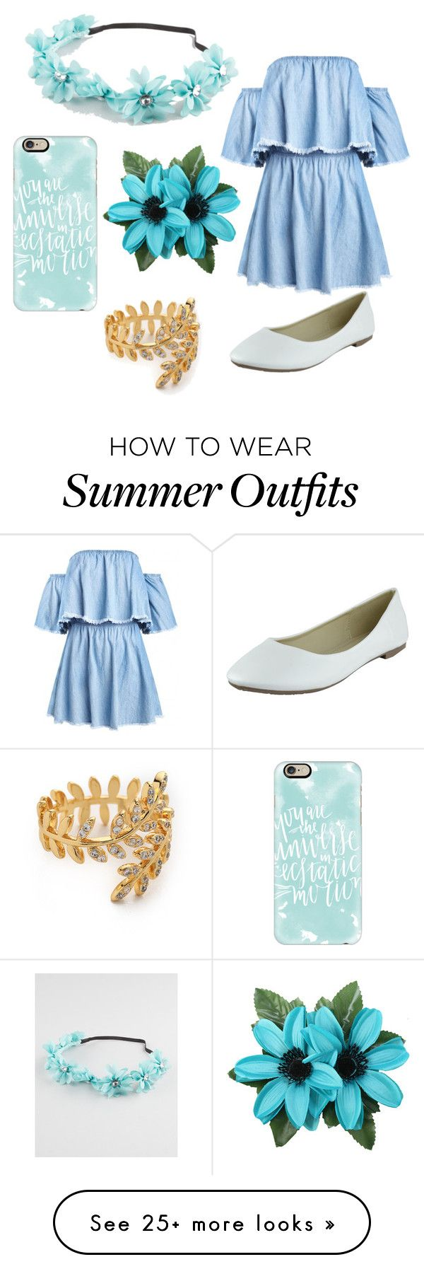 """""""Cute summer outfit"""" by liza-ionova on Polyvore featuring Casetify, Full Tilt and Gorjana"""