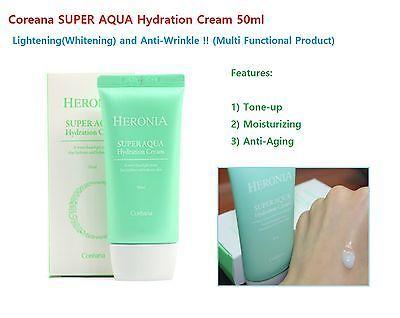 Cosmetic Coreana Super Aqua Hydration Cream 50ml 1 pcs (Made in Korea) K-Beauty