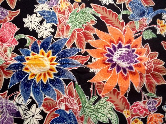 Handmade Indonesian Batik Sarong - 100% cotton hand-loomed and hand painted textile art