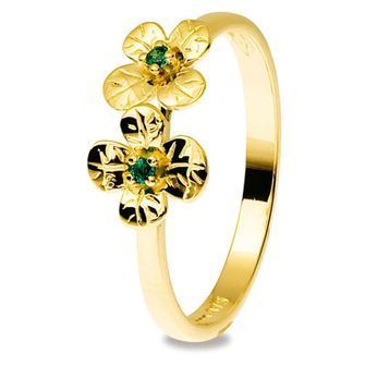 Buy our Australian made Lucky Emerald Clover Ring - BEE-25320-G online. Explore our range of custom made chain jewellery, rings, pendants, earrings and charms.