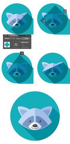 Adobe illustrator practice - create long shadow icon