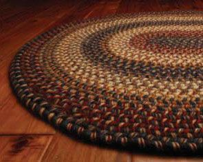 Home Spice Decor Braided Cotton and Wool Rugs