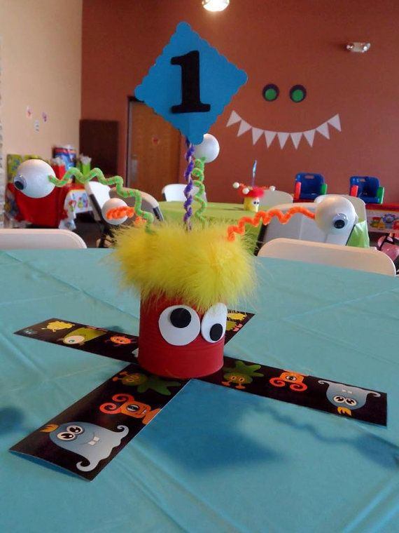 Children's Monster centerpiece by OccasionsByKim on Etsy