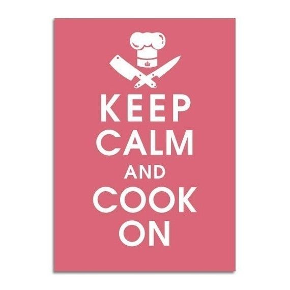 Keep Calm and Cook On 5x7 Poster Rasberry Kisses by KeepCalmShop, $8.49