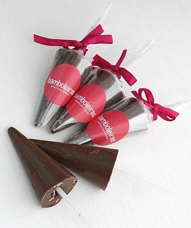 Guarda-chuva de chocolate-Receita das Bamboleiras