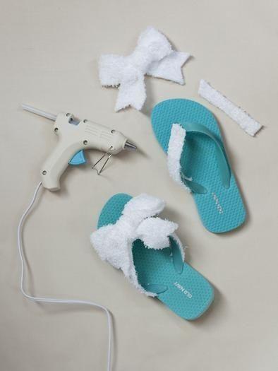 spa shoes diy