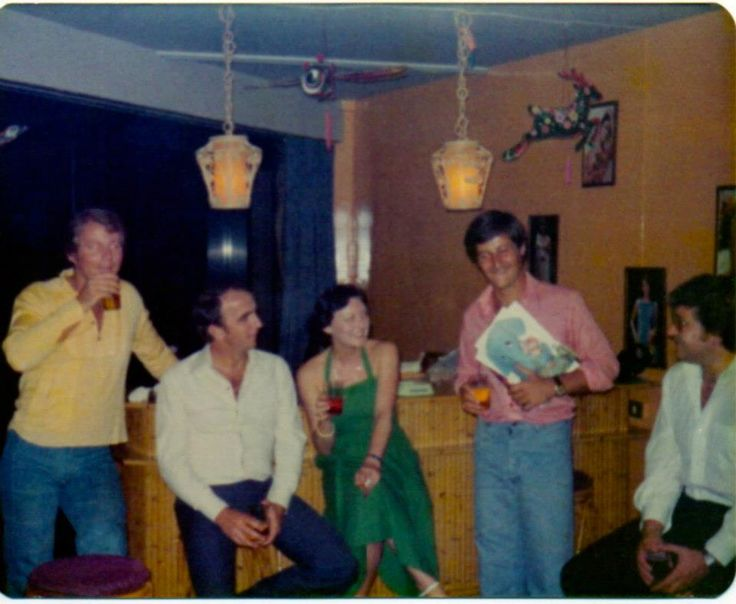 Qantas Crew party Singapore 1976