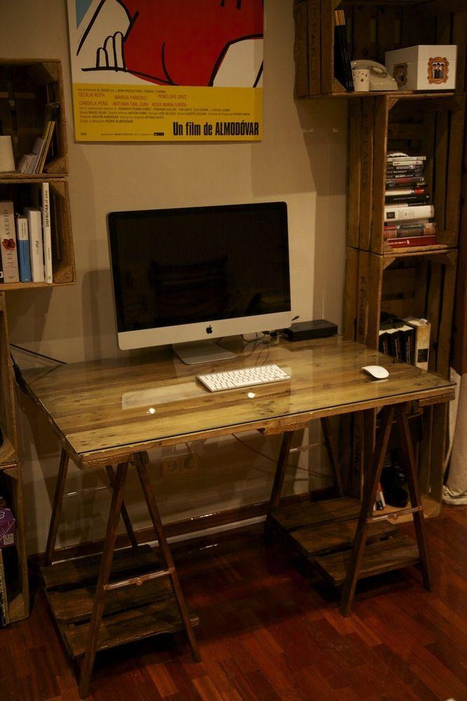 M s de 25 ideas incre bles sobre escritorios reciclados - Escritorio de palets ...