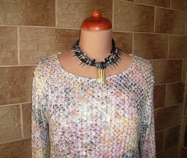 Lady at home DIY Blog: DIY sequined sweater Cekinowy sweterk