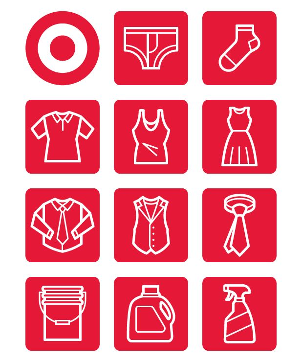Iconography for Target by Von Glitschka.