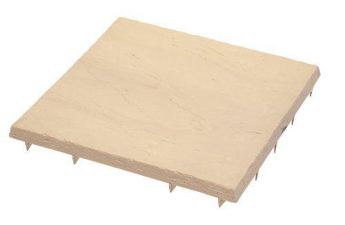 Emsco Group 2161 16-by-16-Inch Flat Rock Poly Patio Block Sandstone, 24-Pack by Emsco Group, http://www.amazon.com/dp/B00295R1YW/ref=cm_sw_r_pi_dp_yiPKrb0WEQE96