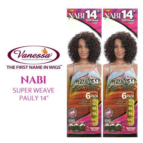 Vanessa Synthetic Hair Weave Nabi Super Weave Pauly 14