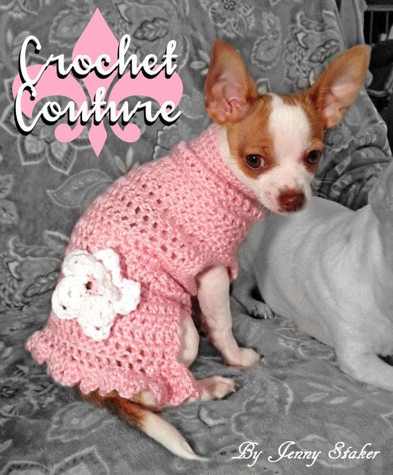 Handmade Crocheted Dog Sweater, Sizes xxs-xl, Medium Weight, Warm, Fl ...