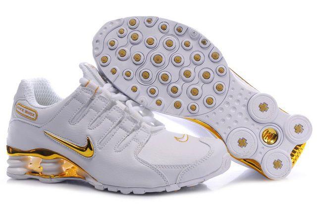 Vit Golden Nike Shox NZ Skor Kvinna 78935 Rea